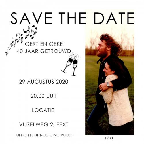 RE save the date 40 jarig huwelijksfeest